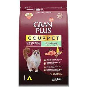 Ração Affnity Gran Plus Gourmet para Gatos Castrados Adultos Sabor Peru e Arroz