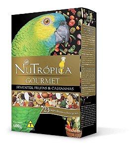 Ração Nutrópica Goumet Sementes ,Frutas e Castanhas Papagaio
