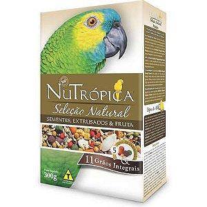 Ração Nutrópica Seleção Natural Sementes e Extrusados para Papagaio 300g