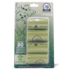Refil de Saquinhos Biodegradáveis Cata Caca Beeva 80 saquinhos plásticos