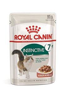 Ração Úmida Royal Canin Sachê para Gatos Adultos Instinctive 7+