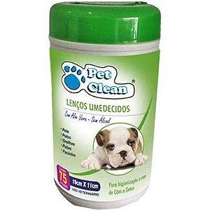 Lenços Umedecidos Pet Clean Verde para Cães