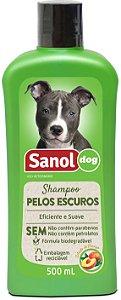 Shampoo Sanol Pelos Escuros para Cães 500ml
