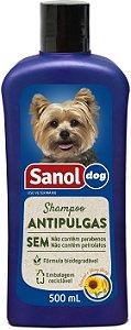 Shampoo Sanol Antipulgas para Cães 500ml