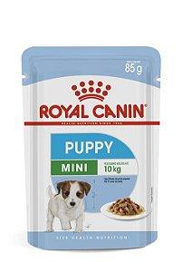 Ração Úmida Royal Canin Sache para Cães Filhotes Raças Pequenas Mini Puppy 85g