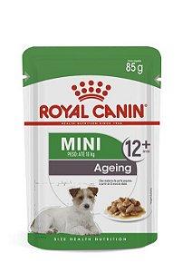 Ração Úmida Royal Canin Sache para Cães Adultos com mais de 12 anos Raças Pequenas Mini Ageing 12+ 85g