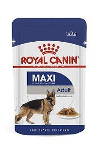 Ração Úmida Royal Canin Sache para Cães Adultos Raças Grandes Maxi Adult 140g