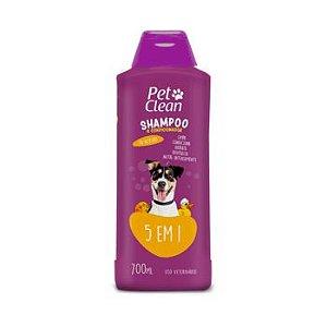 Shampoo e Condicionador Pet Clean 5 em 1  para Cães 700ml