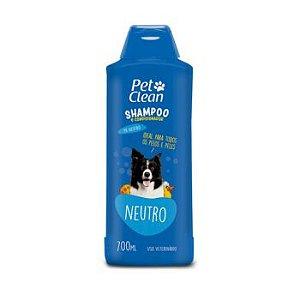 Shampoo e Condicionador Pet Clean Neutro para Cães 700ml