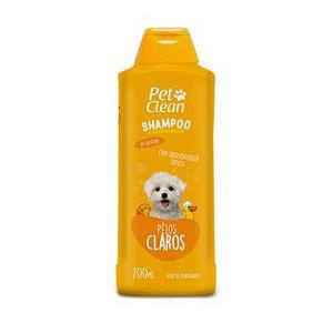 Shampoo e Condicionador Pet Clean Pêlos Claros para Cães 700ml