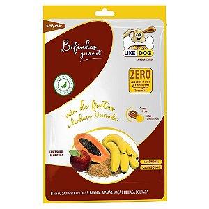 Bifinho Like Dog Carne e Frutas Banana Mamao Maça e Linhaça Dourada
