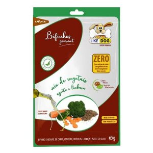 Bifinho Like Dog Carne e Vegetais Cenoura, Brocolis Linhaça e Azeite de Oliva