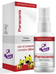 Homeopet Paracanis Controle dos Parasitas em Cães 30ml