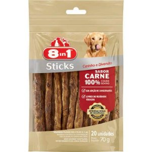 Petisco 8in1 Sticks Sabor Carne 70g