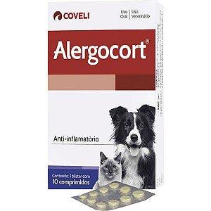 Anti-Inflamatorio Alergocort para Cães e Gatos 10 Comprimidos