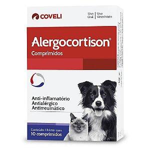 Anti-Inflamatório Alergocortison para Cães e Gatos 10 Comprimidos
