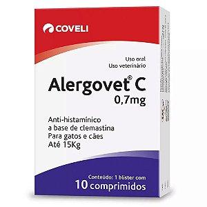 Anti-Histamínico Alergovet C. 0.7mg com  10 Comprimidos