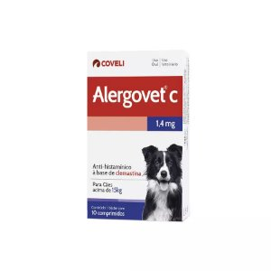 Anti-Histaminico Alergovet C 1,4mg com 10 comprimidos