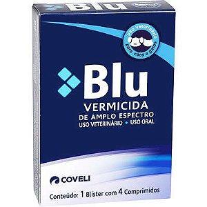 Blu Vermifugo com  4 Comprimidos
