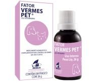 Fator Vermes Pet Controle de Vermes em Cães e Gatos 26g