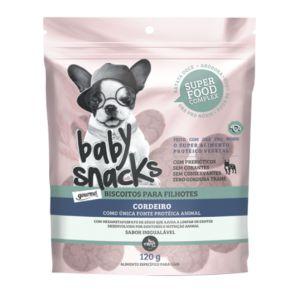 Biscoito Baby Snacks para Filhote Sabor Cordeiro, Abóbora e Batata doce 120g