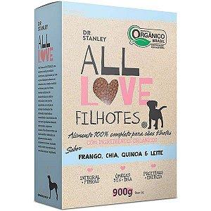 Ração All Love Sabor Frango, Chia, Cenoura & Leite para Cães Filhotes
