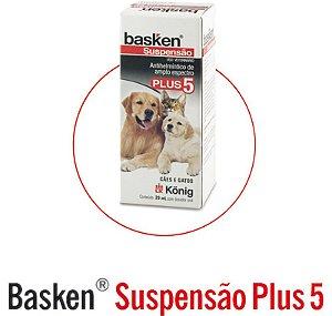 Basken Suspensão Vermífugo para Cães e Gatos 20ml