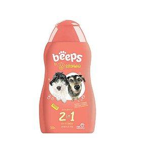 Shampoo Pet Society Beeps Estopinha 2 em 1 Extrato de Aveia 500ml