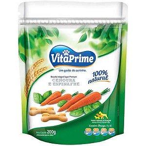 Vitaprime Biscoito Cenoura e Espinafre 200g