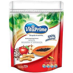 Vitaprime Biscoito Maça, Mamão e Linhaça 200g