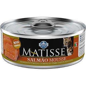 Ração Úmida Matisse Salmão Mousse para Gatos Adultos