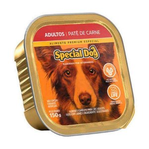 Ração Úmida Special Dog para Cães Adultos Sabor Patê de Carne 150g