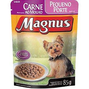 Ração Úmida Magnus Sachê Carne para Cães Adulto de Pequeno Porte 85g