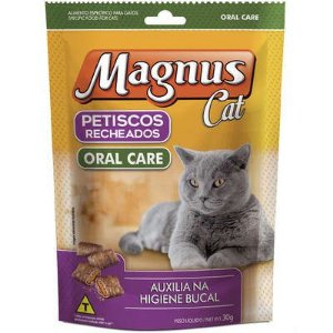 Petiscos Magnus Cat Recheados Oral Care 30g