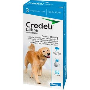 Antipulgas e Carrapatos Elanco Credeli para Cães de 22 a 45 Kg 3 Comprimidos