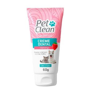 Pet Clean Creme Dental Morango 60g