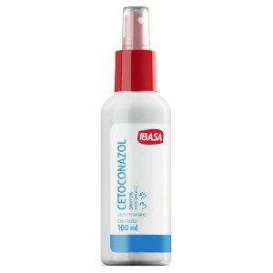Cetoconazol Spray Ibasa 2% 100ml Para Cães