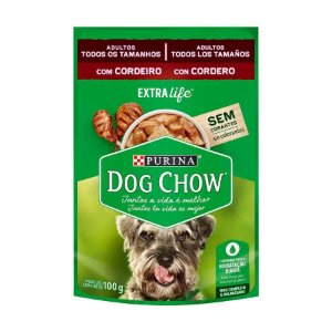 Dog Chow Sachê Adultos Cordeiro 100g