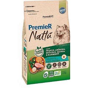 Ração Premier Nattu Cães adultos Raças Pequenas Sabor Frango e Abóbora 12kg