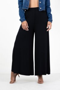 Calça Pantalona Elástico Bolso