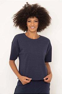 Blusa Semi Cropped Corte Quadrado
