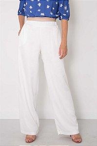 Calça Pantalona Bolsos Laterais