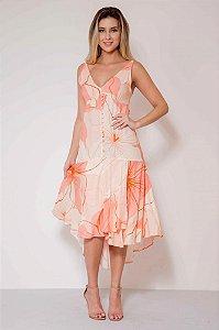 Vestido Midi Mullet Floral