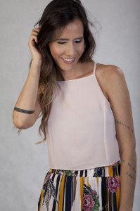 Cropped Regata Abertura Costas