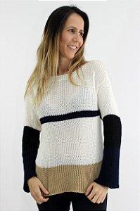 Suéter Tricot Tricolor