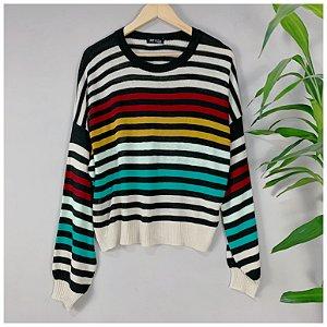 Suéter Listras Coloridas