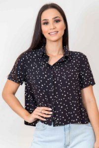 Camisa Estrelas Manga Curta