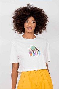 T-shirt Semi Cropped Abraço