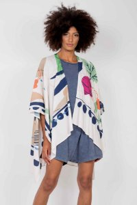 Kimono Estampado Pontas