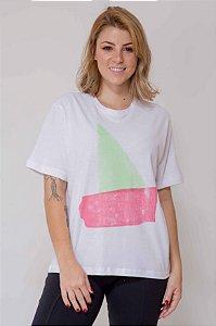 T-shirt Abstrata Barco